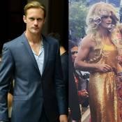 Alexander Skarsgard, o Eric de 'True Blood', aparece de drag queen em evento