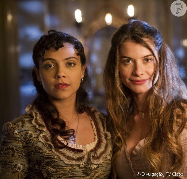 Anita (Letícia Persiles) se apaixona por Roberto (Rômulo Estrela), que fica interessado em Lívia (Aline Moraes), na novela 'Além do Tempo', a partir de 10 de agosto de 2015
