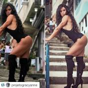 Gracyanne Barbosa publica foto com retoque no Photoshop: 'Longe de ser perfeita'