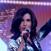 Fátima Bernardes é elogiada por Tiago Leifert ao dublar Frank Sinatra: 'Diva'