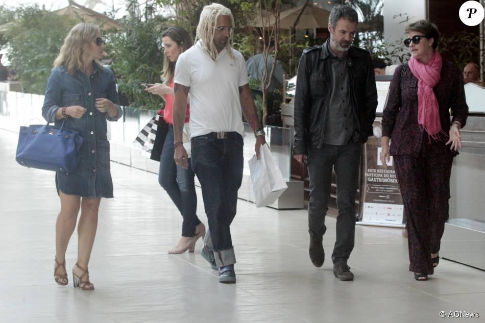 Angélica almoçou com o diretor do seu programa, Jorge Espírto Santo, e o diretor de variedades da Globo, Ricardo Waddington