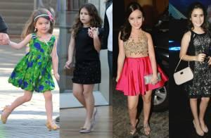 Jovens atrizes e filhas de famosas adoram usar salto alto. Veja fotos dos looks!