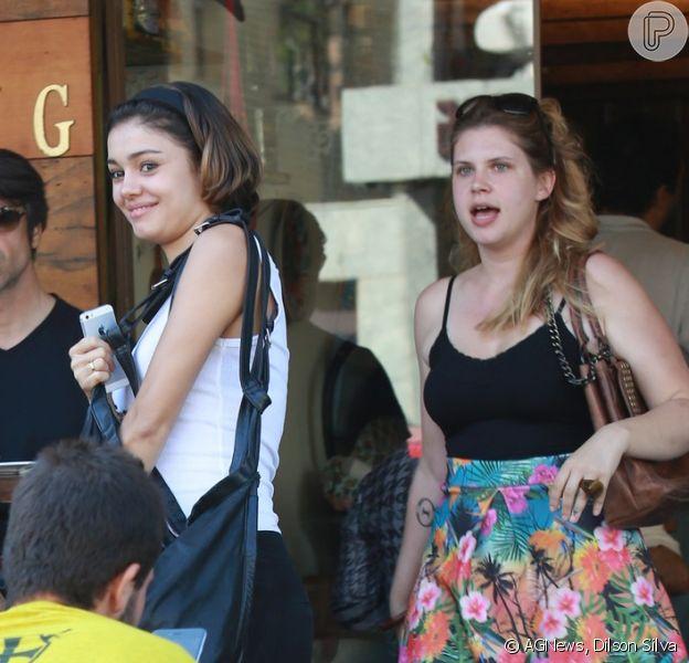 Sophie Charlotte almoça com Carolinie Figueiredo e os filhos da atriz no Rio, nesta quinta-feira, 13 de agosto de 2015