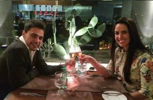 Zezé Di Camargo comemora aniversário de 53 anos com Graciele Lacerda: 'Meu amor'