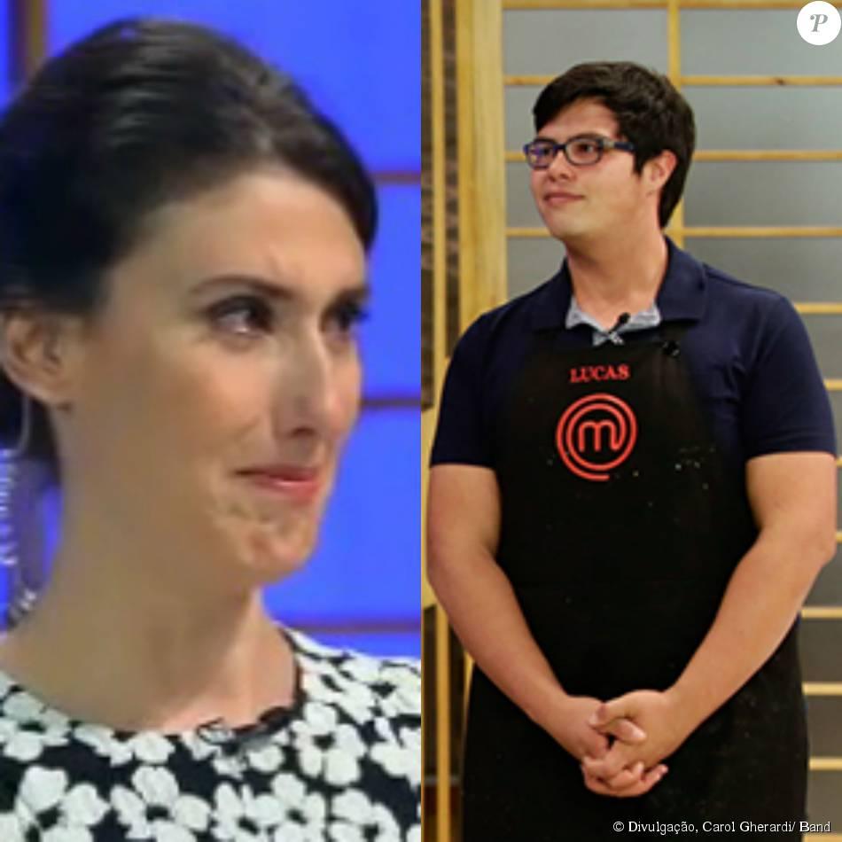 A jurada Paola Carosella não segurou a emoção com a eliminação de Lucas no 'MasterChef Brasil' desta terça-feira, dia 18 de agosto de 2015