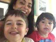 Juliana Paes posta vídeo do filho cantando e a chamando de 'gorducha'. Veja!