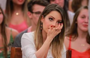Sandy chora no 'Altas Horas' após vídeo de sua retrospectiva no programa