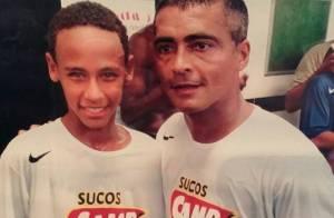 Neymar aparece em foto antiga com Romário: 'Tem tudo para ser o melhor do mundo'