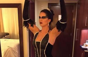 Graciele Lacerda aposta em fantasia sensual para festa de Paula Fernandes
