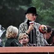 Gwen Stefani passa tarde feliz em família após boatos de crise no casamento