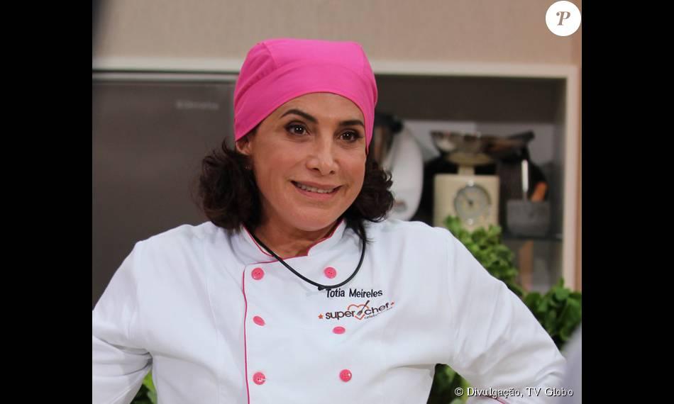 Totia Meireles foi eliminada do 'Super Chef Celebridades', competiçãod e culinária exibida no 'Mais Você', na manhã desta quinta-feira, 27 de agosto de 2015
