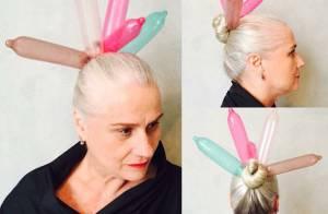 Vera Holtz conquista fãs ao postar foto de coque com preservativos: 'Rainha'