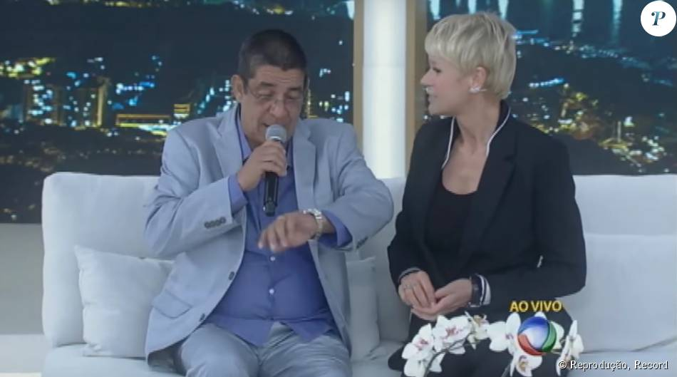 Zeca Pagodinho participou do 'Programa Xuxa Meneghel' nesta segunda-feira, 31 de agosto de 2015