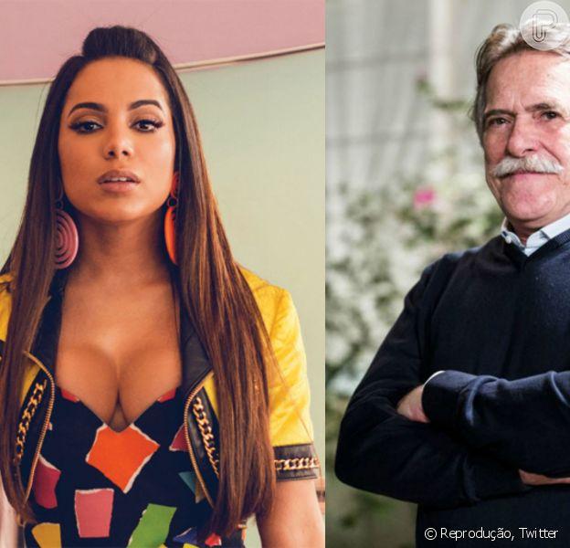 Anitta e José de Abreu discutiram sobre o cenário da música atual no Brasil, nesta quarta-feira, 02 de setembro de 2015