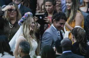 Mariana Rios e outros famosos prestigiam casamento de Fiorella e Flávio Canto