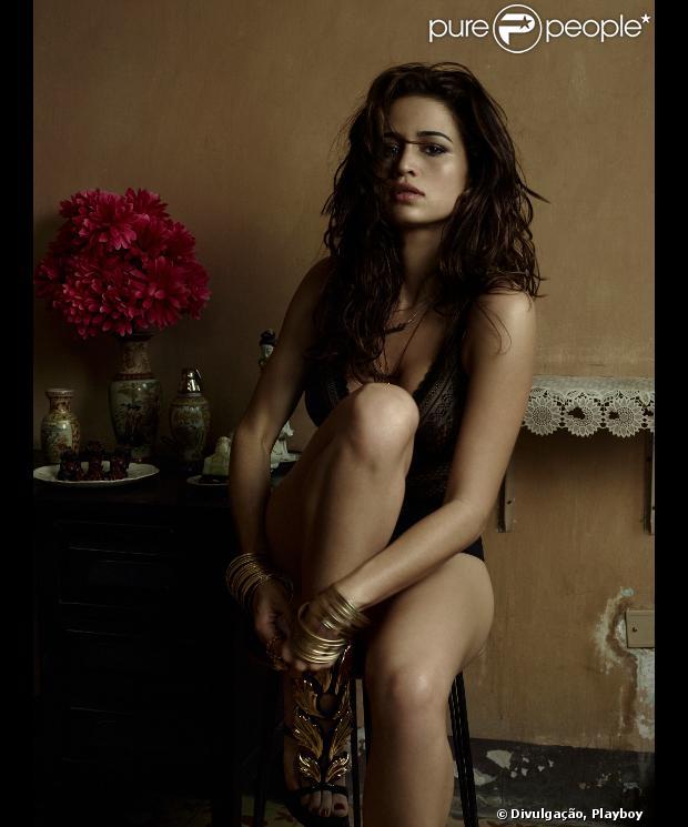 'Playboy' divulga foto de Nanda Costa no ensaio sensual que chegará às bancas no mês de agosto. A imagem foi divulgada em 25 de julho de 2013