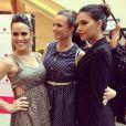 Nathalia Rodrigues publicou uma foto com Mariana Rios e Fernanda Pontes e disse: ' Trabalhar com pessoas queridas é sempre um prazer'