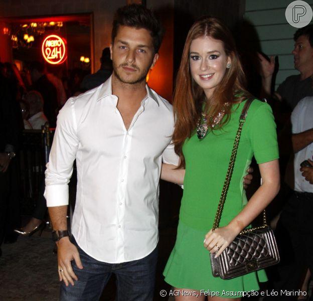 Marina Ruy Barbosa leva o namorado, Klebber Toledo, para a inauguração do restaurante Paris 6, no Rio de Janeiro, em 6 de agosto de 2013