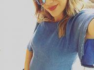 Jéssica Costa, namorada de Sandro Pedroso, mostra barriga de 6 meses de gravidez