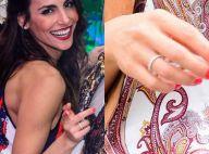 Namorada de Rodrigo Santoro, Mel Fronckowiak exibe anel e fã dispara: 'Aliança?'
