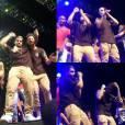 Os atores fizeram a alegria do público com dancinhas sensuais no palco
