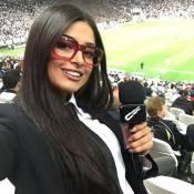 Aline Riscado, ex-bailarina do Faustão, vira repórter do 'CQC' e leva cantada