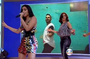 Fátima Bernardes brinca ao dançar 'Bang' com Anitta na TV: 'Vou colar tudo dela'