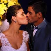 Fran, do 'BBB14', usa vestido de renda de R$ 12 mil em casamento com Diego