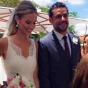 Fred, do Fluminense, se casa com publicitária Paula Armani em chácara de MG