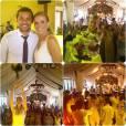 O casal se divertiu durante a festa, realizada em Minas Gerais, com a presença de amigos e parentes