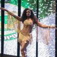 Cris Vianna, rainha da Imperatriz, com seu look todo novo para a vinheta de Carnaval da TV Globo