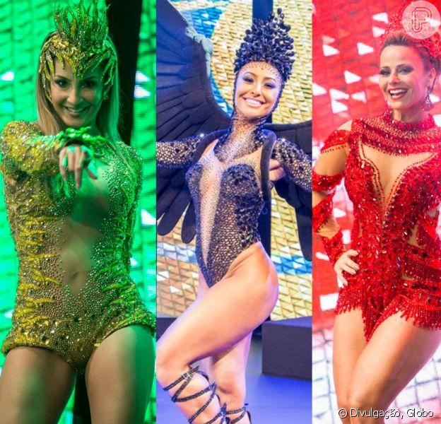 Veja os looks das rainhas de bateria na gravação das vinhetas do Carnaval 2016