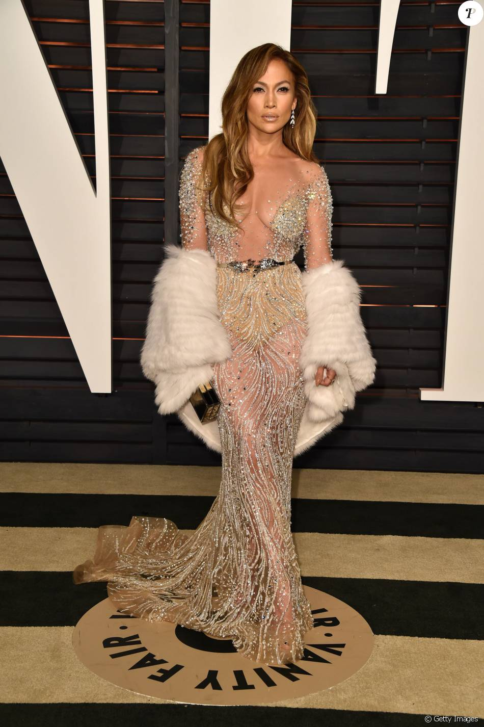 No Vanity Fair Oscar Party 2015 Jennifer Lopez Foi Luxuosa De Zuhair Murad Purepeople
