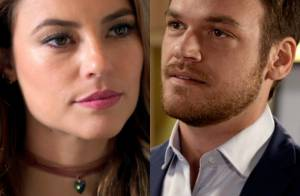 Novela 'Além do Tempo': Melissa pede ajuda a Pedro para separar Lívia de Felipe