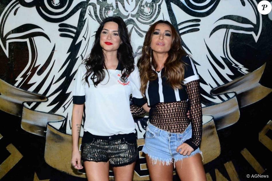 Sabrina Sato e Thaila Ayala cairam no samba em comemoração à vitória do  Corinthians no Campeonato 39bb573830788