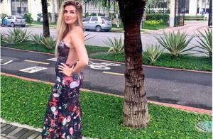 Grávida de Fernando Medeiros, ex-BBB Aline Gotschalg exibe barriga de 4 meses