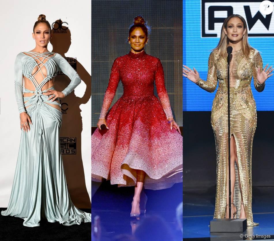 Jennifer Lopez trocou de look 10 vezes durante o American Music Awards, neste domingo, 22 de novembro de 2015
