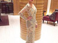 Adriana Birolli usa joias de R$ 70 mil e vestido bordado de 10 kg no Emmy