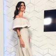 Isabella Fiorentino gravou 'Esquadrão da Moda' em um vestido de linho da grife Cruise