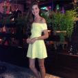 Camila Queiroz, a Angel de 'Verdades Secretas', já era adepta do decote e usou na virada de 2014 para 2015, em Copacabana