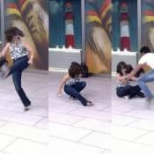 Fátima Bernardes leva tombo ao jogar capoeira no 'Encontro': 'Já temos meme'