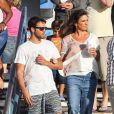 Ivete Sangalo passeia com seu marido, Daniel Cady, e seu filho, Marcello, em Los Angeles