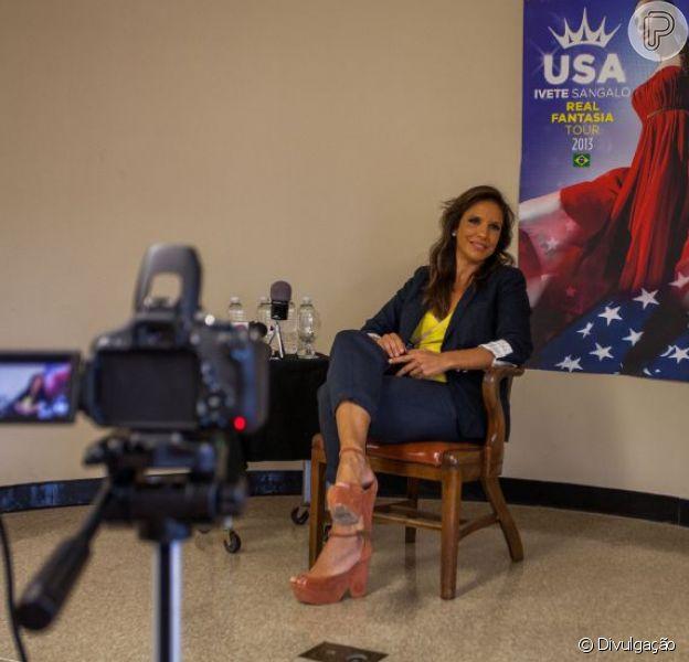 Ivete Sangalo realiza coletiva de imprensa nos Estados Unidos