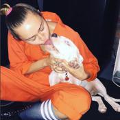 Miley Cyrus posta foto beijando cachorro e divide opiniões na web: 'Nojo!'