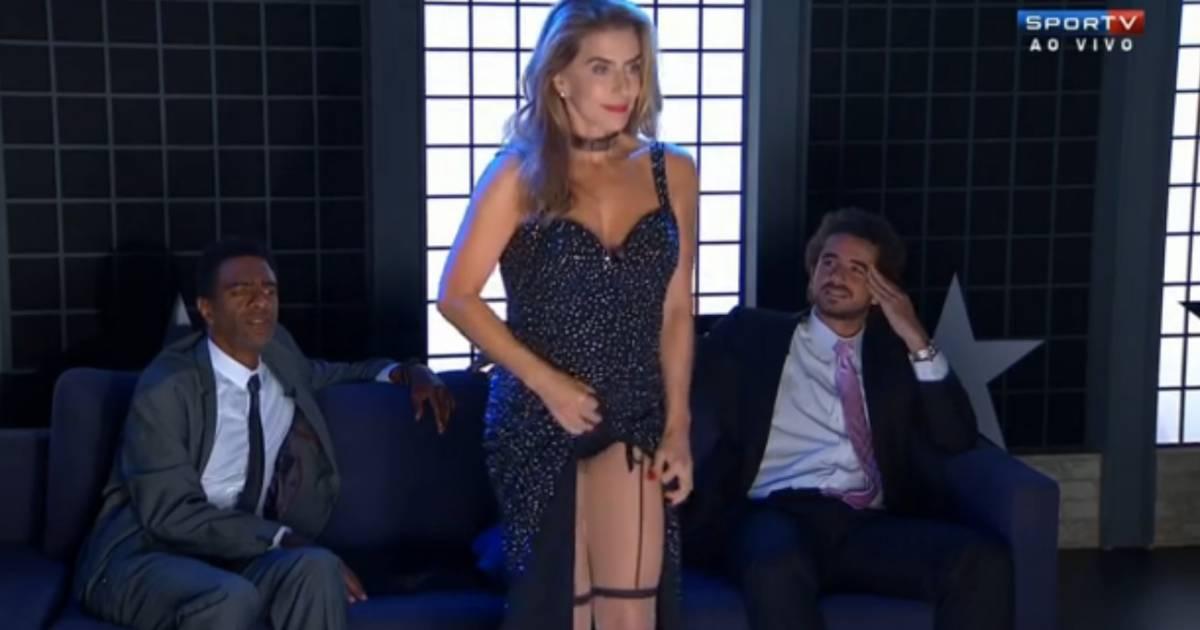 mait proen a deixa apresentadores da sportv pasmos com sensualidade em strip tease para pagar. Black Bedroom Furniture Sets. Home Design Ideas