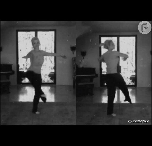 """Britney Spears dançou balé ao som de """"Hello"""", de Adele."""