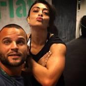 Juliana Paes exibe braço musculoso após treino e 'tatuagem' feita pelo caçula