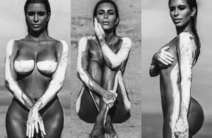 Kim Kardashian aparece nua em ensaio feito antes da gravidez. Veja fotos!