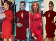 Fernanda Souza repete vestido vermelho usado por outras famosas em evento no Rio