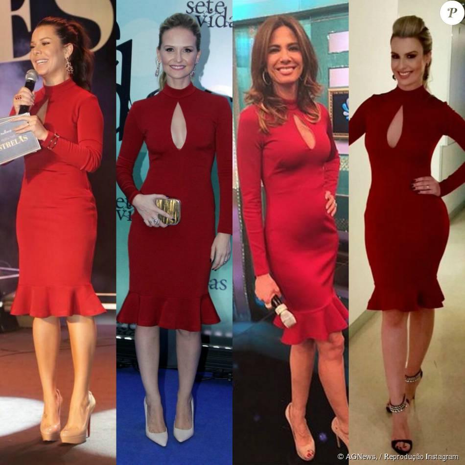 d5b6df888d Fernanda Souza repete vestido vermelho usado por outras famosas em evento  no Rio